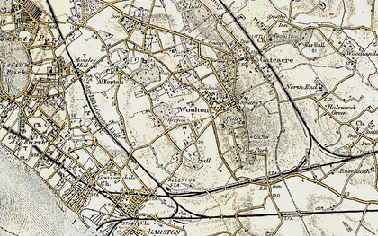 Old map of Allerton in 1902-1903
