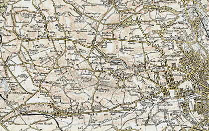 Old map of Allerton in 1903-1904