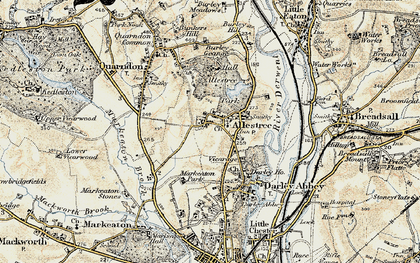 Old map of Allestree Park in 1902-1903