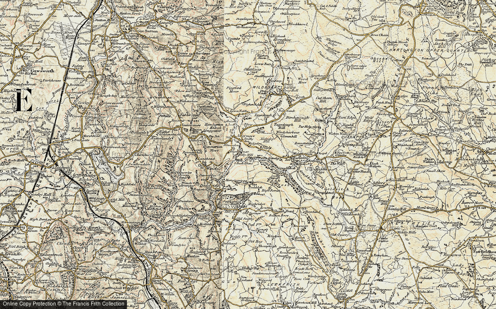 Old Map of Allgreave, 1902-1903 in 1902-1903