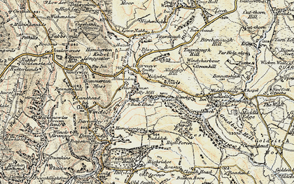 Old map of Allgreave in 1902-1903
