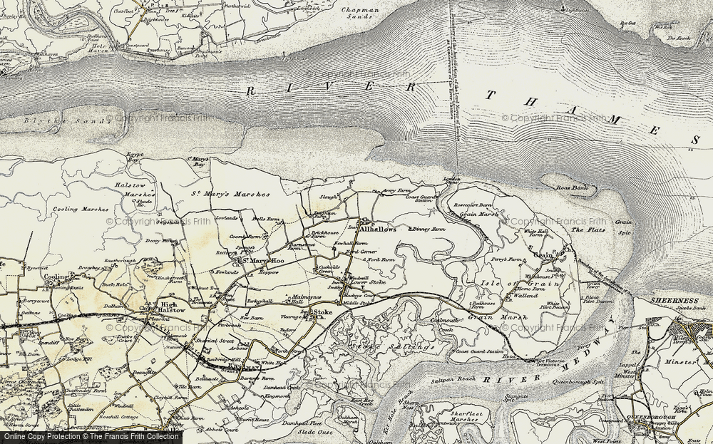 Old Map of Allhallows, 1897-1898 in 1897-1898