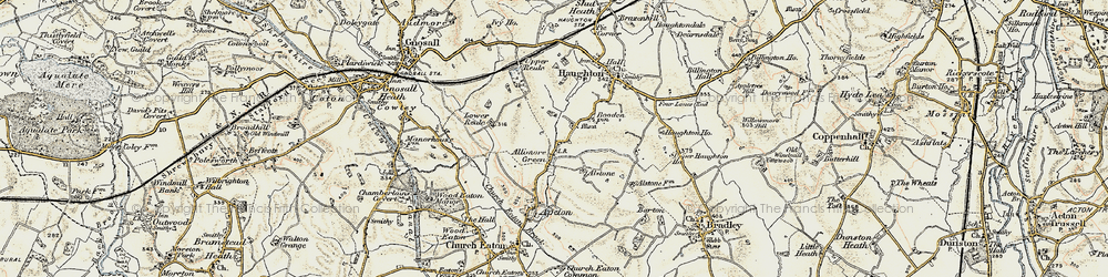 Old map of Allimore Green in 1902