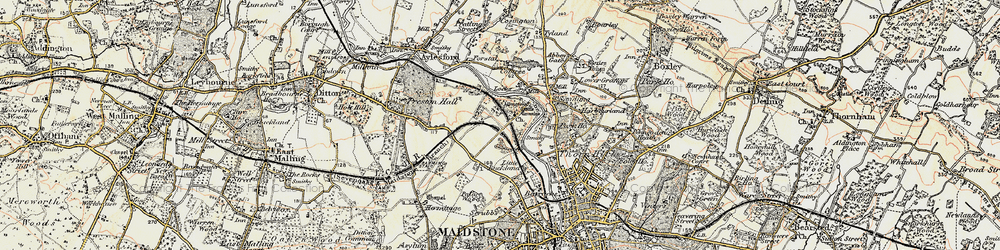 Old map of Allington in 1897-1898