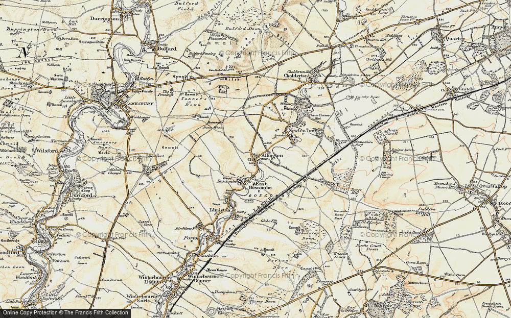 Old Map of Allington, 1897-1899 in 1897-1899