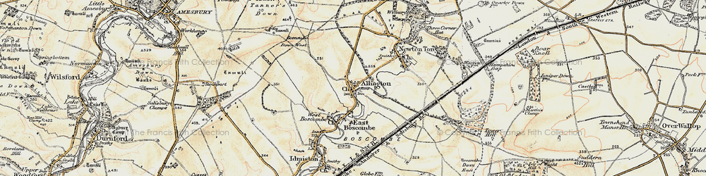 Old map of Allington in 1897-1899