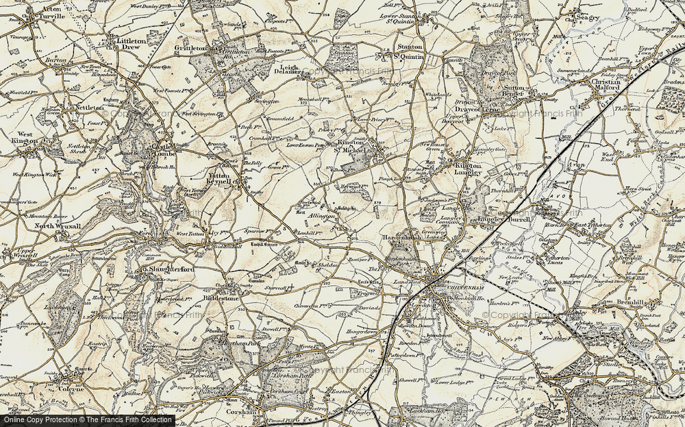 Old Map of Allington, 1898-1899 in 1898-1899
