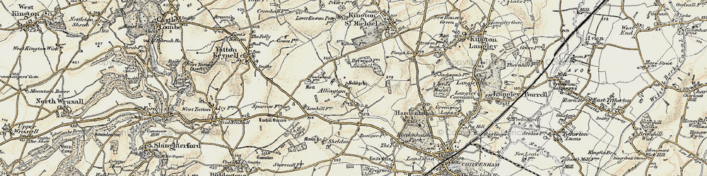 Old map of Allington in 1898-1899