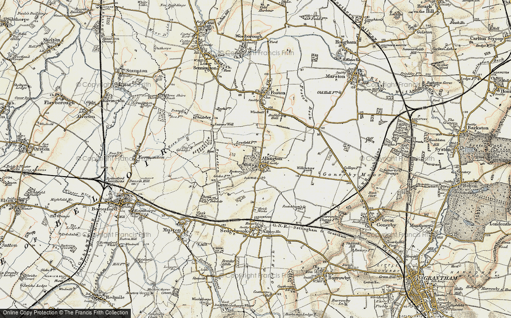 Old Map of Allington, 1902-1903 in 1902-1903