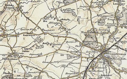 Old map of Allington Bar in 1898-1899