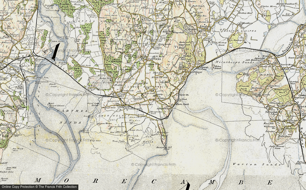 Old Map of Allithwaite, 1903-1904 in 1903-1904