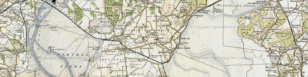 Old map of Allithwaite in 1903-1904