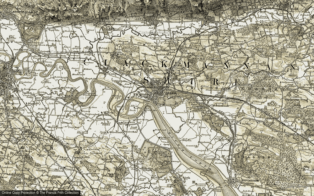 Old Map of Alloa, 1904-1907 in 1904-1907