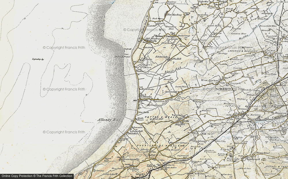 Old Map of Allonby, 1901-1905 in 1901-1905