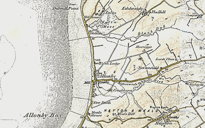 Old map of Allonby in 1901-1905