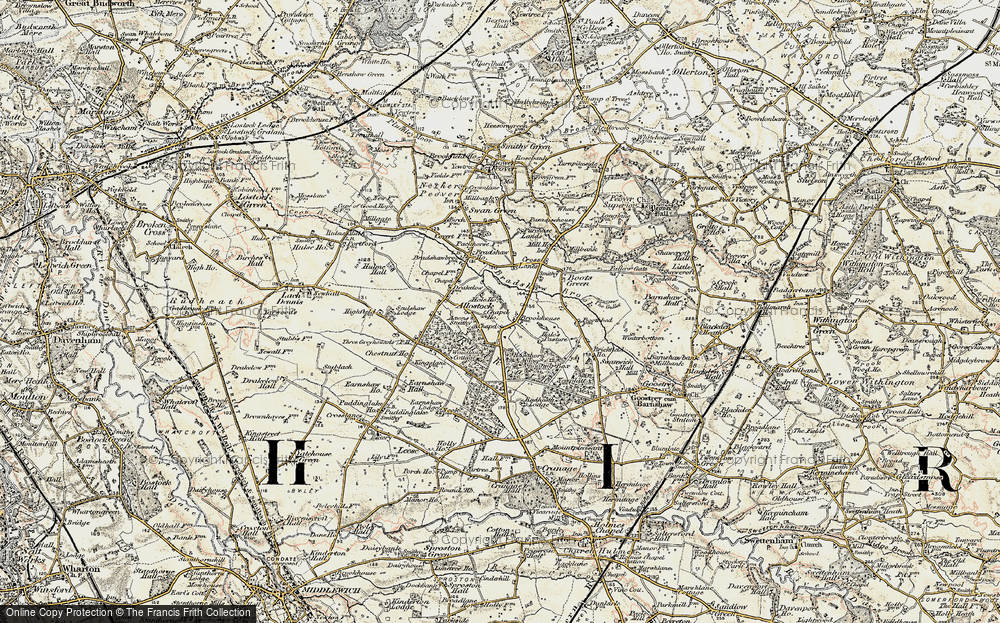 Old Map of Allostock, 1902-1903 in 1902-1903