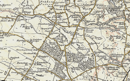 Old map of Allostock in 1902-1903