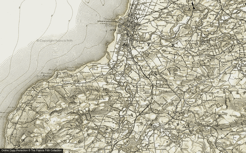 Old Map of Alloway, 1904-1906 in 1904-1906