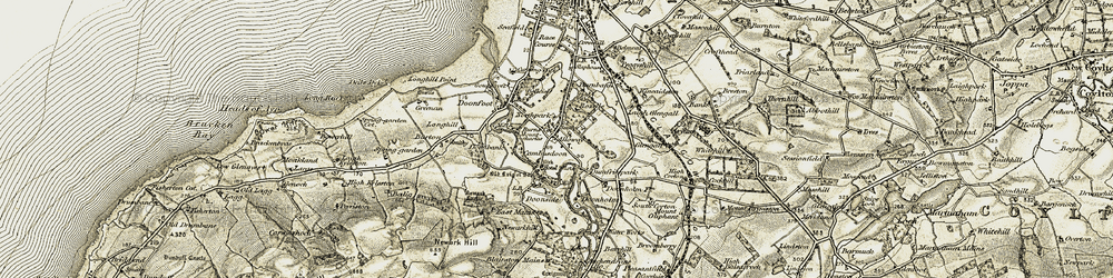Old map of Alloway in 1904-1906