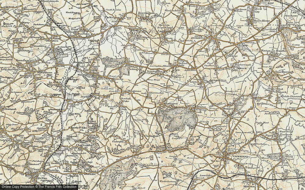 Old Map of Allowenshay, 1898-1899 in 1898-1899