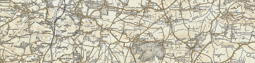 Old map of Allowenshay in 1898-1899