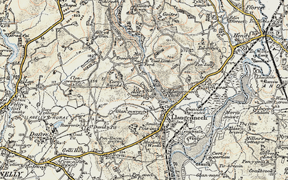 Old map of Allt in 1900-1901