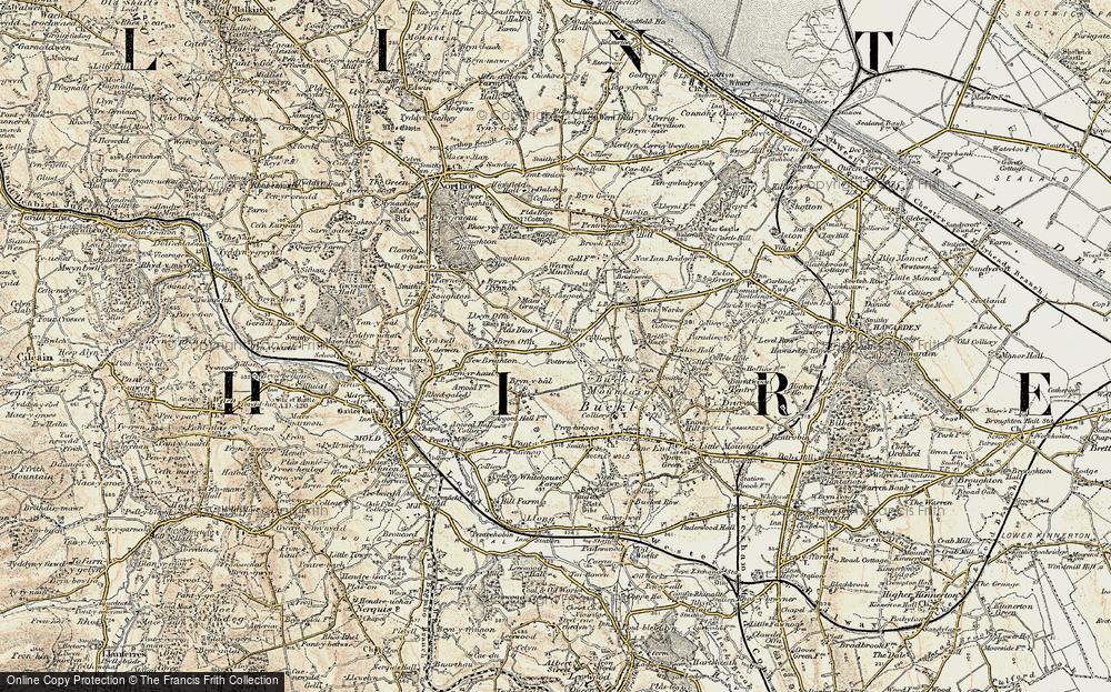Old Map of Alltami, 1902-1903 in 1902-1903