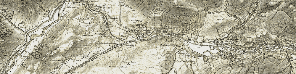 Old map of Tirindrish in 1906-1908
