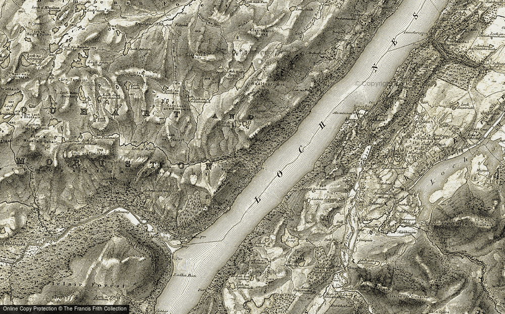 Old Map of Alltsigh, 1908-1912 in 1908-1912