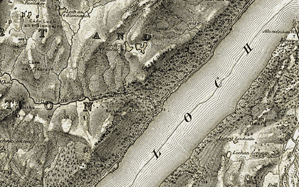Old map of Alltsigh in 1908-1912