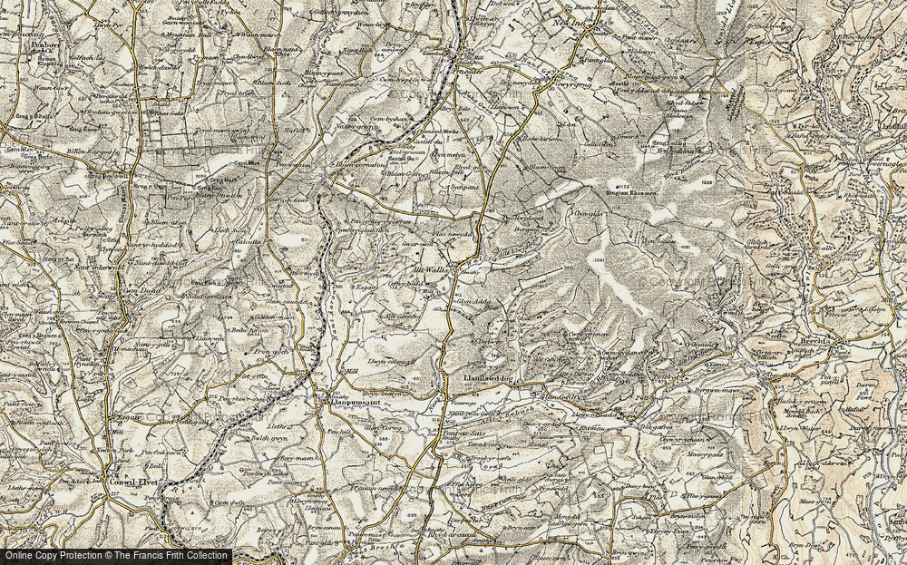 Old Map of Alltwalis, 1901 in 1901