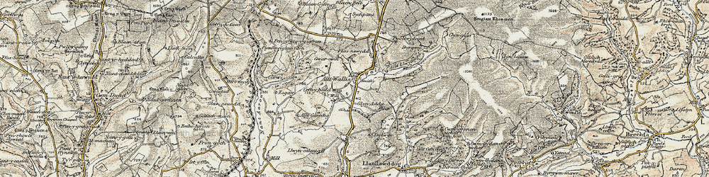 Old map of Alltwalis in 1901