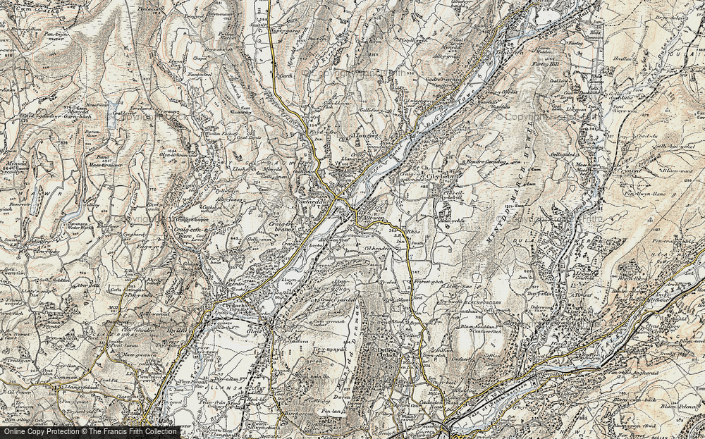 Old Map of Alltwen, 1900-1901 in 1900-1901