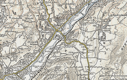 Old map of Alltwen in 1900-1901
