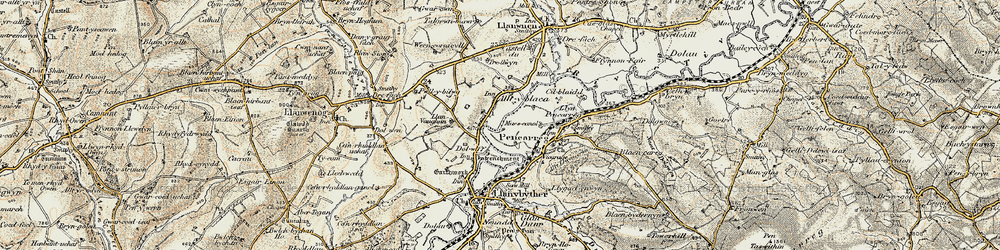 Old map of Alltyblaca in 1900-1902