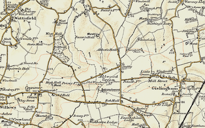 Old map of Allwood Green in 1901