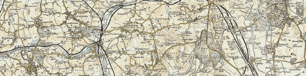 Old map of Alma in 1902