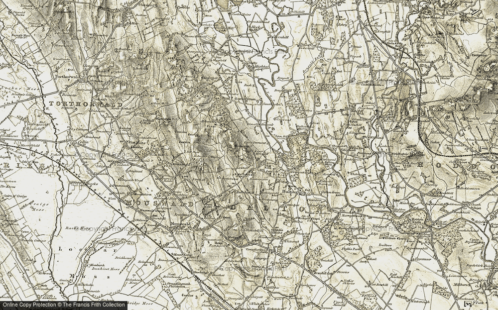 Old Map of Almagill, 1901-1904 in 1901-1904
