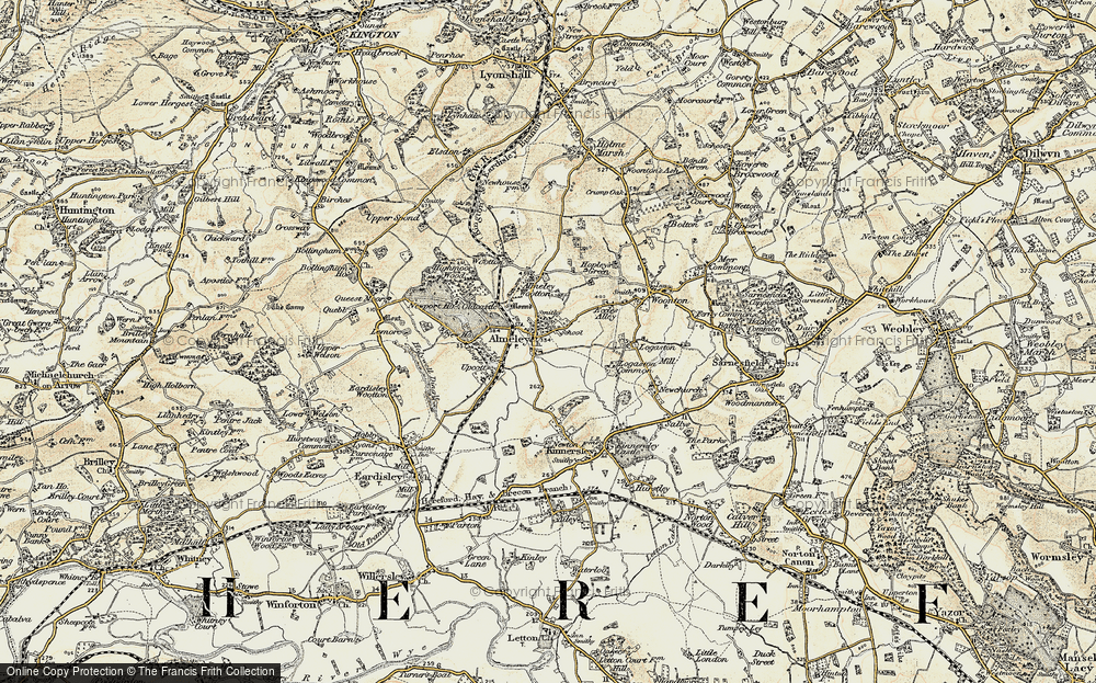 Old Map of Almeley, 1900-1901 in 1900-1901