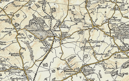 Old map of Almeley in 1900-1901