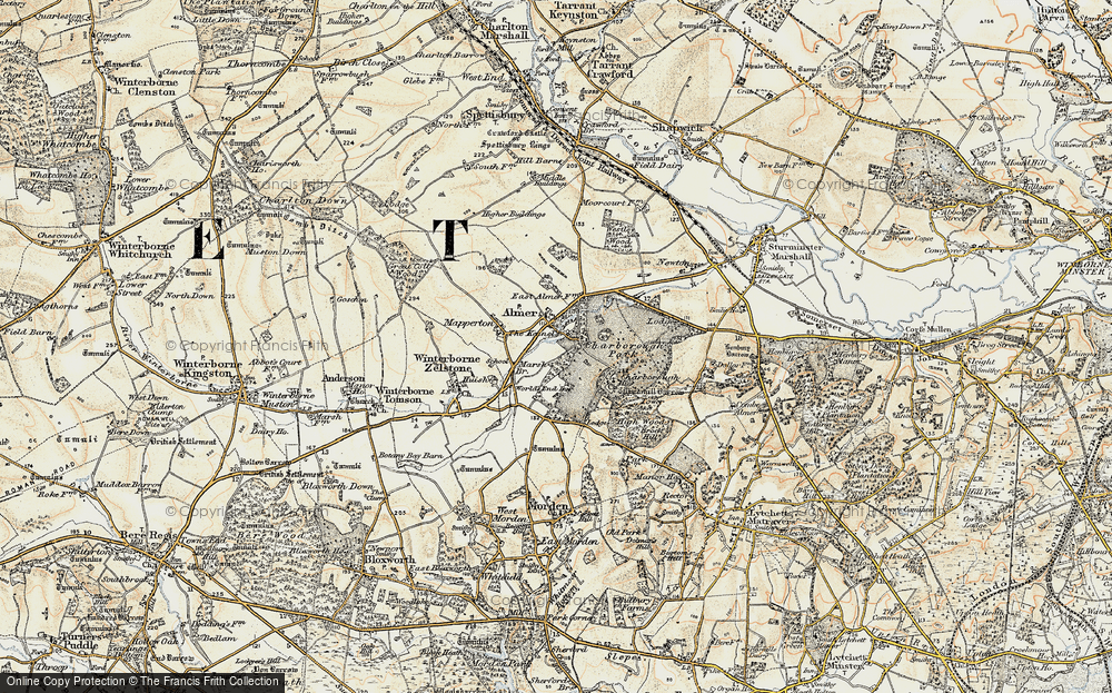 Old Map of Almer, 1897-1909 in 1897-1909