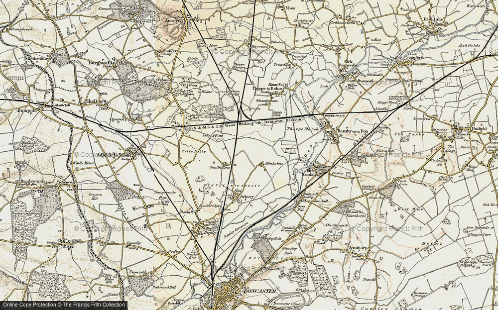 Old Map of Almholme, 1903 in 1903