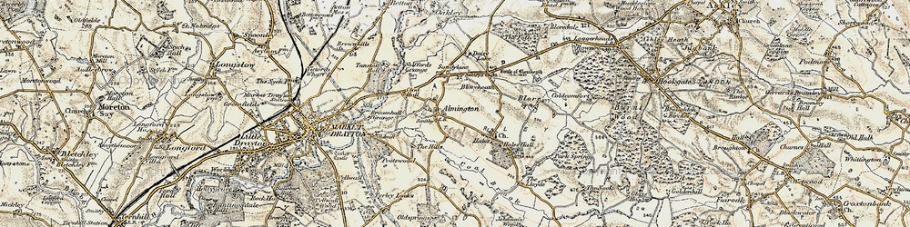 Old map of Almington in 1902