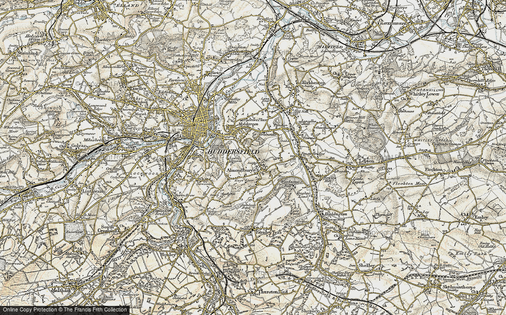 Old Map of Almondbury, 1903 in 1903