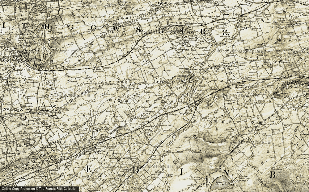 Old Map of Almondvale, 1904 in 1904