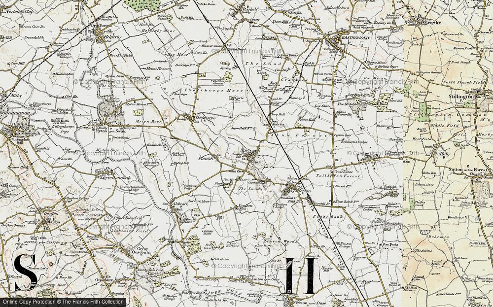 Old Map of Alne, 1903-1904 in 1903-1904