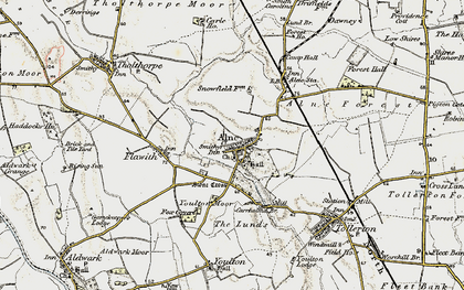 Old map of Alne in 1903-1904