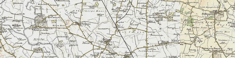 Old map of Alne Station in 1903-1904