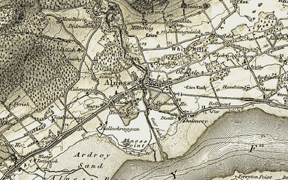 Old map of Alness in 1911-1912