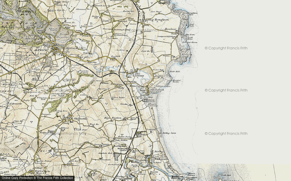 Old Map of Alnmouth, 1901-1903 in 1901-1903